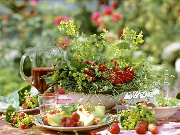 Kopfsalat mit Früchten