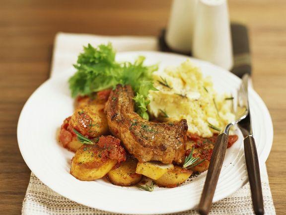 Koteletts mit Bratkartoffeln