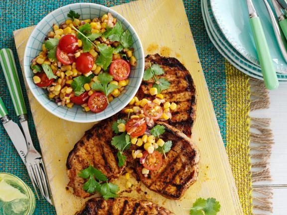 Koteletts mit Mais