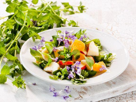 Super Kräuter-Früchte-Salat mit Blüten Rezept   EAT SMARTER #AQ_45