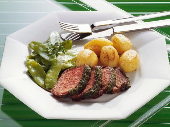 Kräuter-Rinderlende mit Kartoffeln