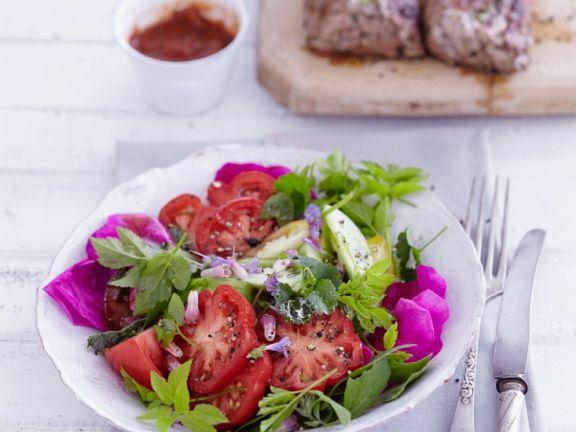 Kräuter-Tomatensalat