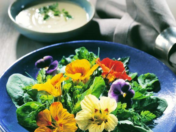 Kräutersalat mit Joghurtsauce