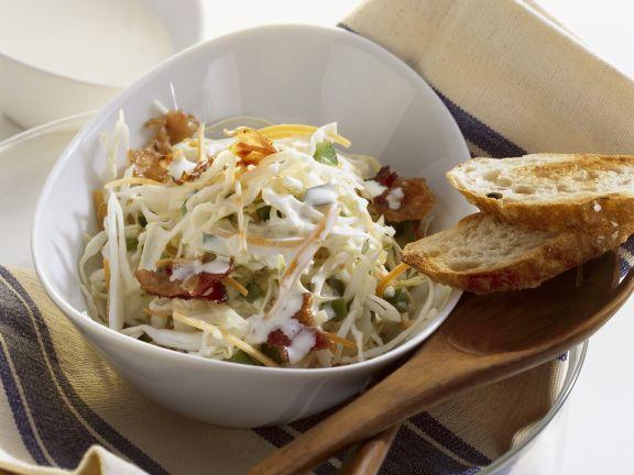 Krautsalat mit Mayo-Dressing