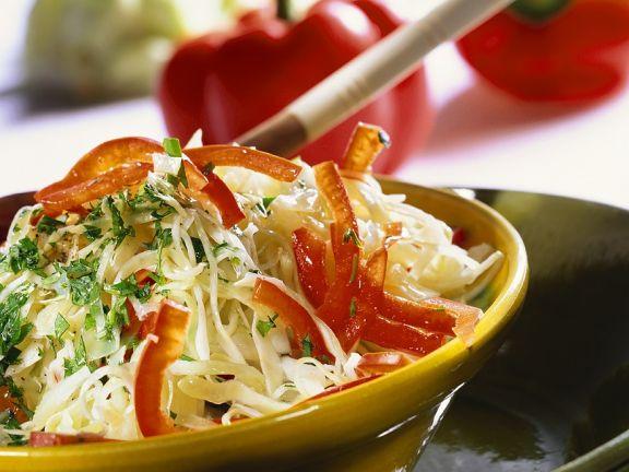 Krautsalat mit Paprika