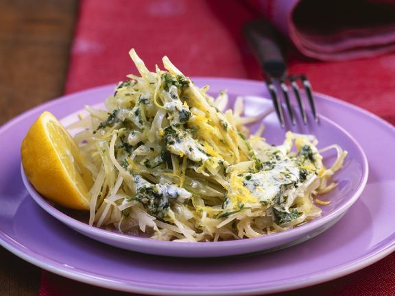 Krautsalat mit Pesto