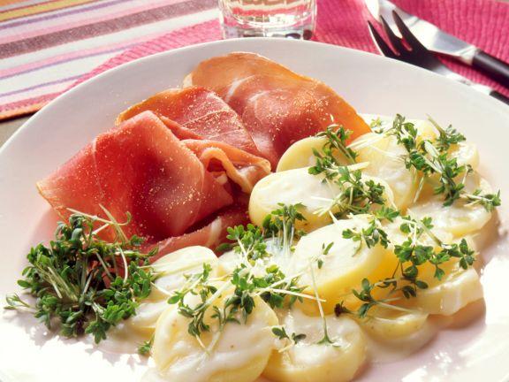 Kresse-Kartoffeln in Sahnecreme-Sauce