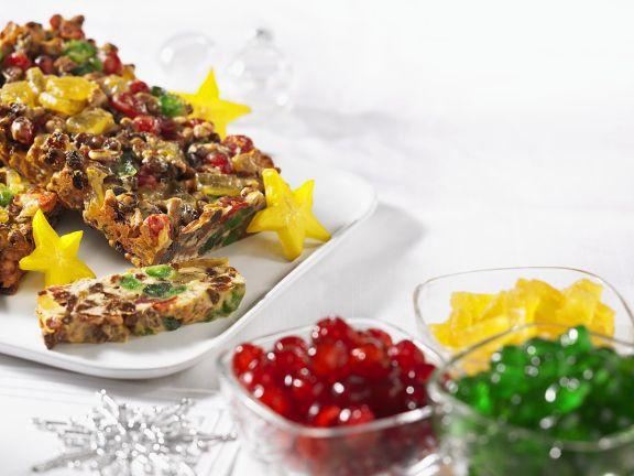 Kuchen aus kandierten Früchten