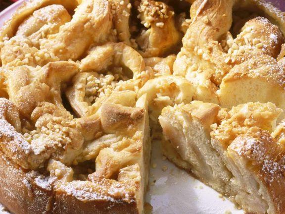 Kuchen mit Birnen