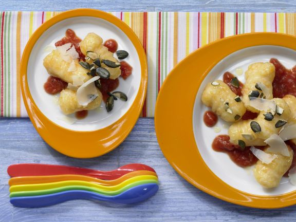Kürbis-Gnocchi mit Tomatensauce