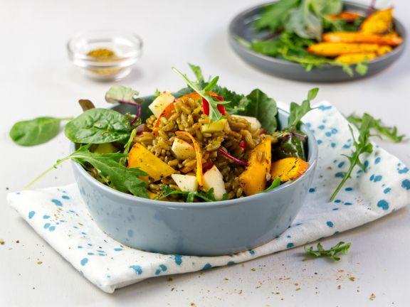 Kürbis-Grünkern-Salat