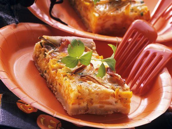 Kürbiskuchen mit Gorgonzola