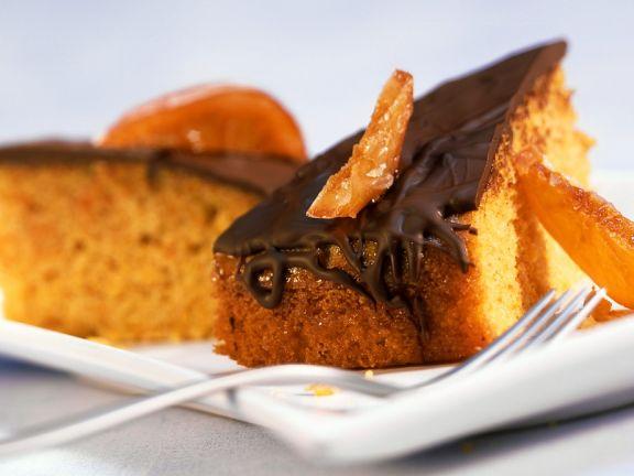 Kürbiskuchen mit Schokolade