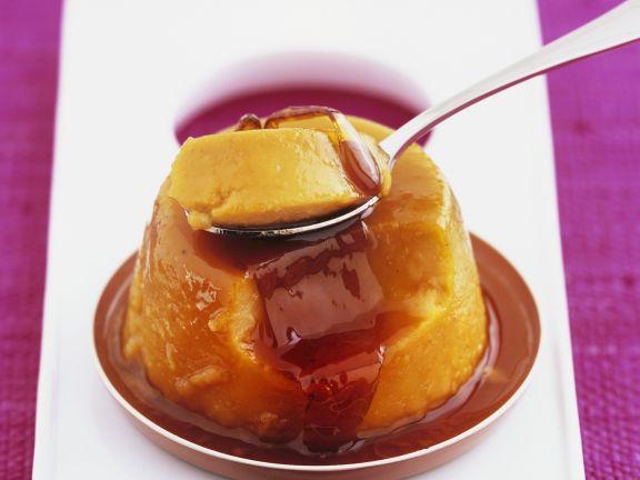 Kürbispudding mit Karamellsoße