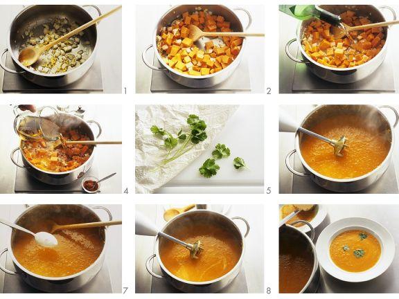 Kürbissuppe kochen