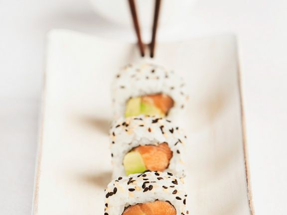 Lachs-California Rolls