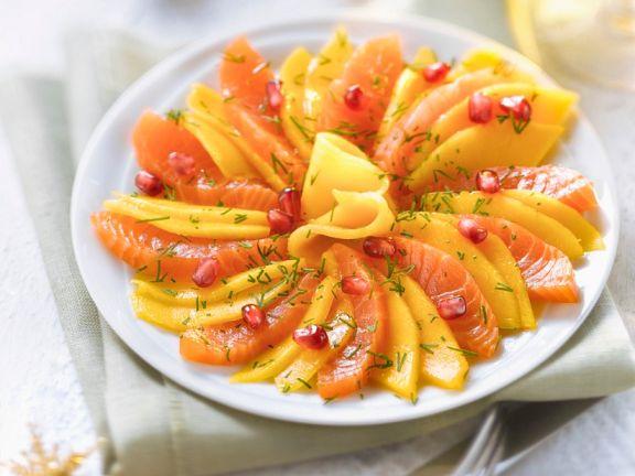 Lachs-Mango-Sashimi