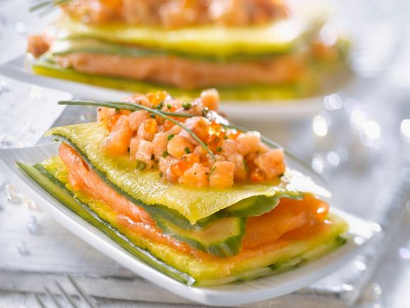 Lachs-Millefeuille