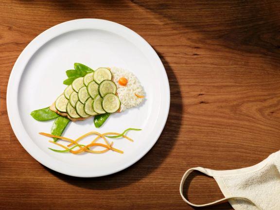 Lachs mit Zucchini für Kinder