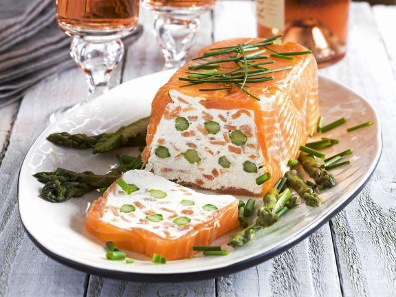 Lachs Spargel Terrine Mit Frischkäse Rezept Eat Smarter
