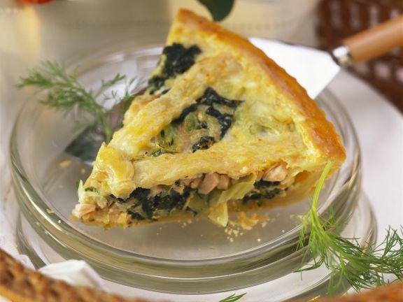 Lachs-Spinat-Pie