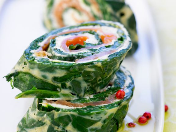 Lachs-Spinat-Röllchen