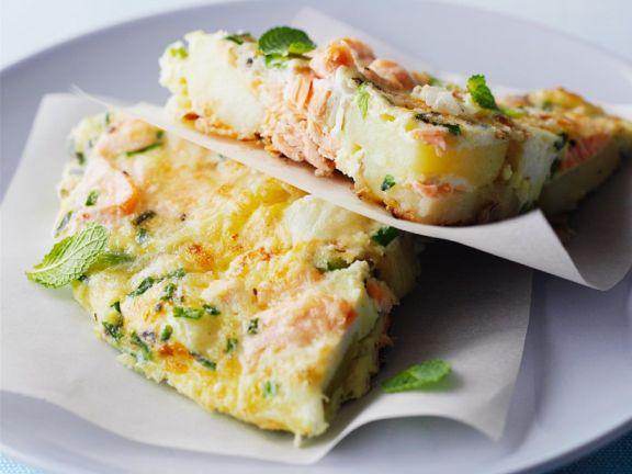 Lachs-Tortilla