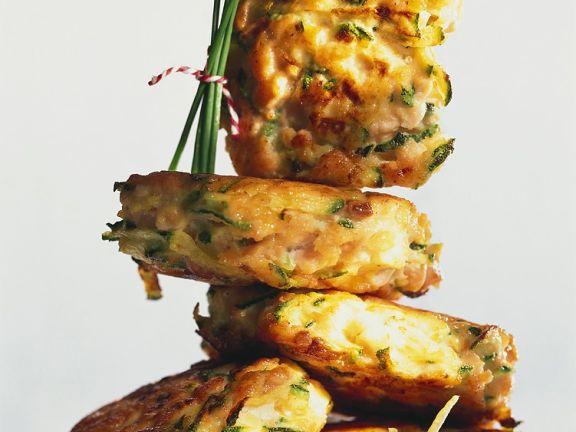 Lachs-Zucchini-Plätzchen