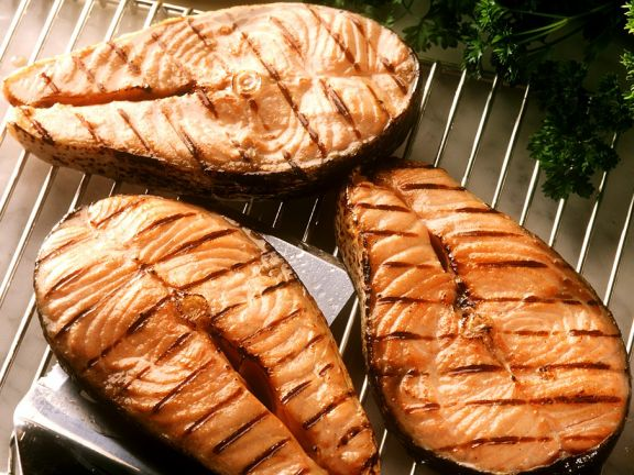 Lachskoteletts vom Grill