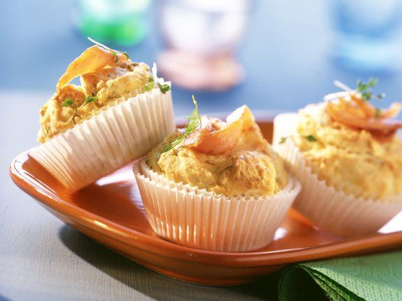 Lachsmuffins mit Dill und Kresse