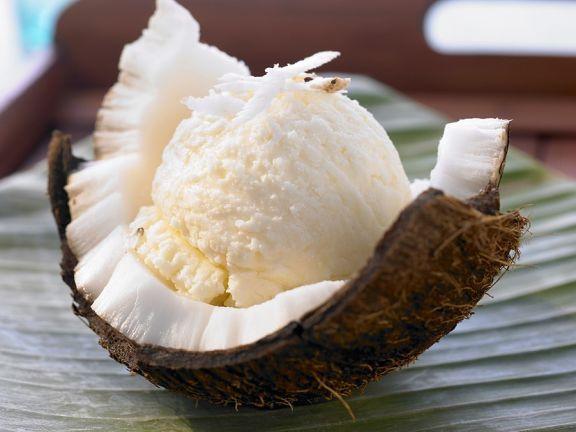 Laktosefreies Kokoseis