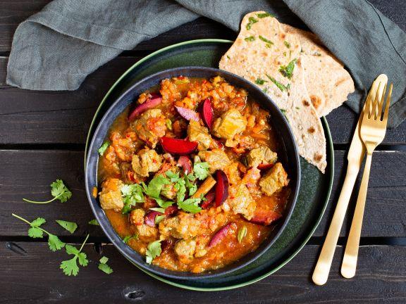 Lamm-Curry mit Pflaumen