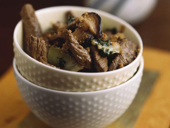 Lamm-Gemüse-Wok