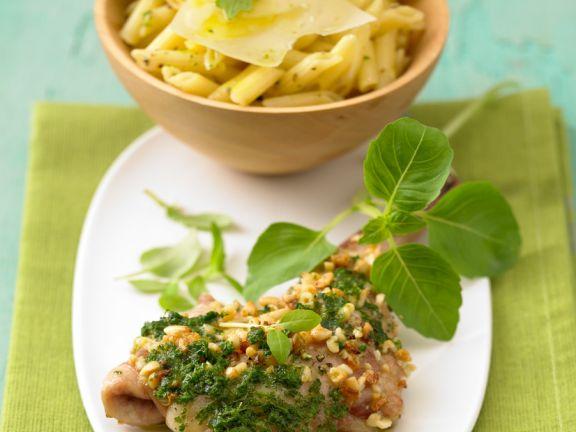 Lamm mit Erdnüssen und Pesto