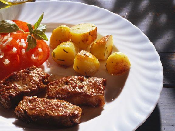 Lamm mit Kartoffeln