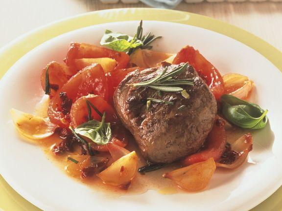 Lamm mit Tomatengemüse