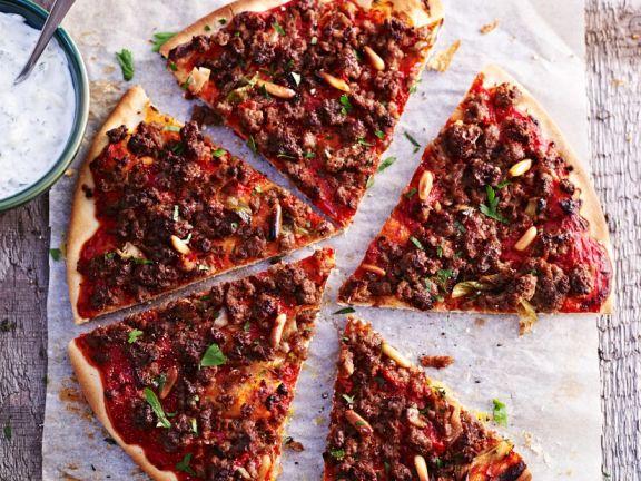 Lamm-Pizza