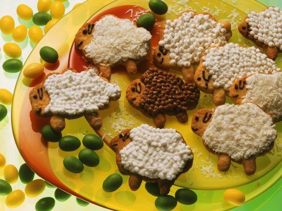 Lamm-Plätzchen mit Zuckerguss
