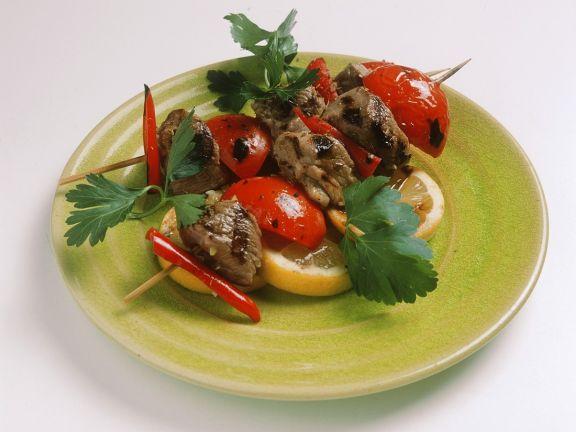 Lamm-Tomaten-Spieße