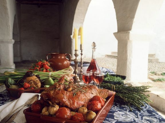 Lammbraten mit Gemüse