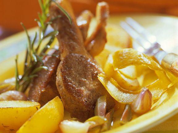 Lammchops mit Kartoffeln