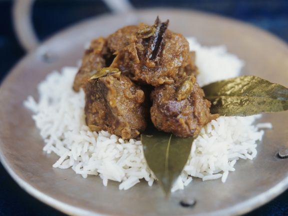 Lammcurry auf indische Art