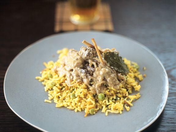 Lammcurry mit Reis