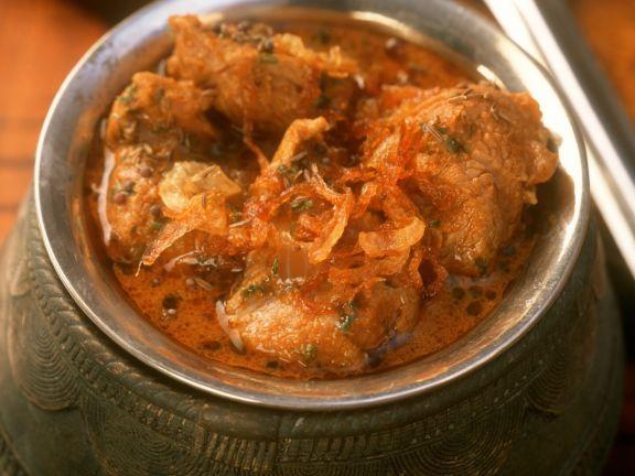 Lammfleischeintopf auf indische Art