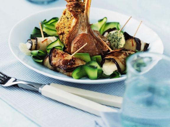 Lammkarree mit Gemüse