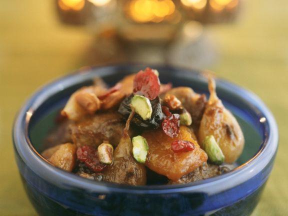 Lammragout mit Früchten nach marokkanischer Art