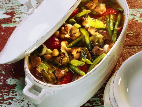 Lammragout mit Gemüse