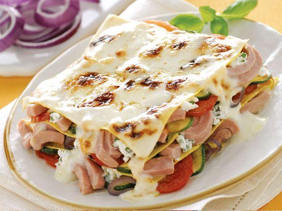 Lasagne Isolane mit Thunfisch und Ricotta