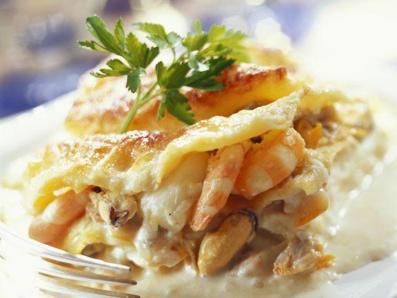 Lasagne mit Frutti di mare