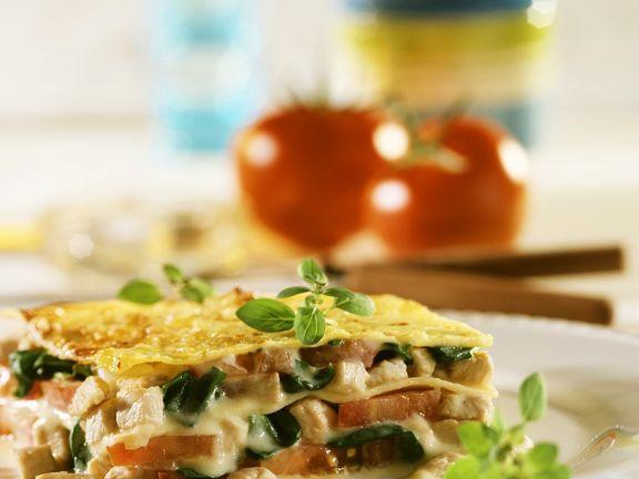 Lasagne mit Hähnchenbrust